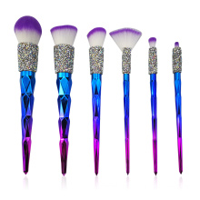 6PC Diamond Makeup Brush Collection